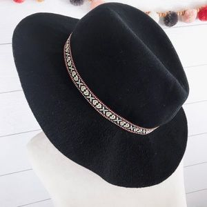 Do Everything In Love • Black Wide Brim Fedora Hat